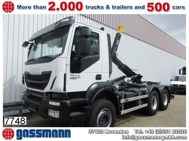 Iveco trakker ad260t41 6x4, abrollanlage hyva titan