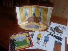 The White House -Book & Paper Doll Fold-Out Play Set -R200 see pics