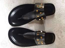 Mens Leather Slippers