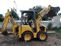 JCB bobcat with escavator