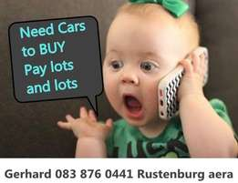 Need cars and bakkies to buy