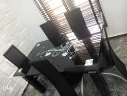 DG Brand New Executive Glass Dining Table and Chairs