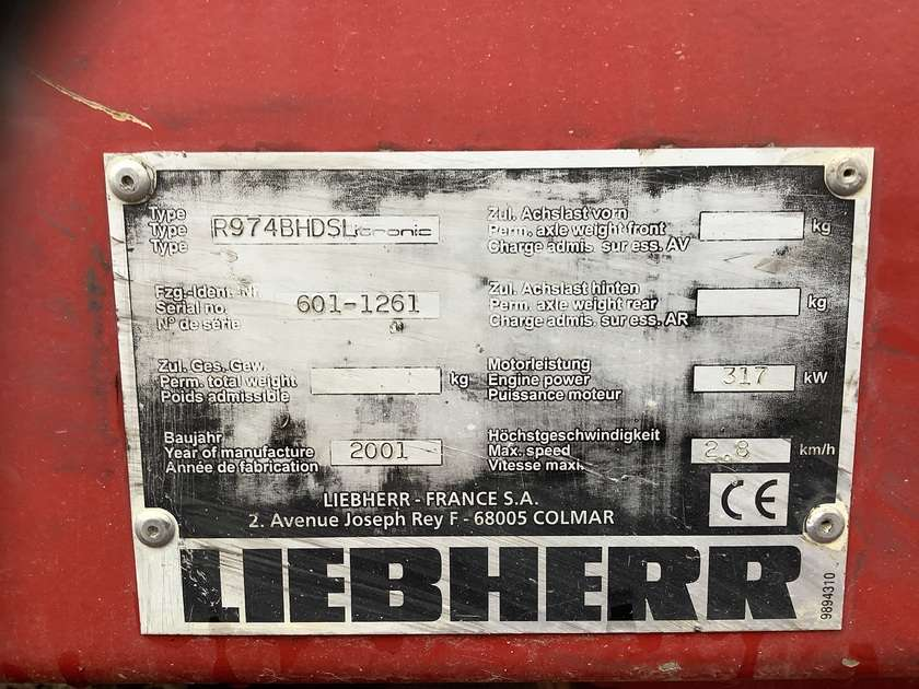 Liebherr R974BHDS Litronic - 2001 - image 9