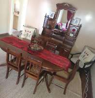Imbuia dinning room table and buffet
