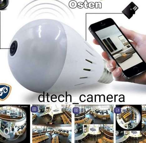 Panorama WiFi bulb camera full Hd security system