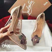 Gold dotted Christian Louboutin wear for ladies