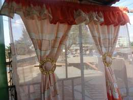 Curtains of different designs and colours