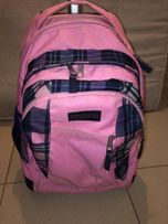 44bb08da04a64 plecak na kółkach walizki jansport różowy