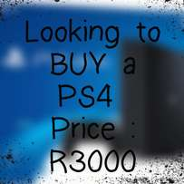 Looking to buy a PS4 R3000
