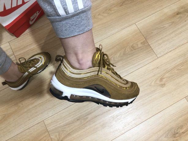 Nike air max 97 musztardowe złote białe 37.5 38 Piła • OLX.pl