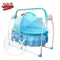 Electric swing baby's cot.