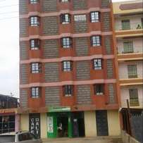 Githurai 44flat facing tarmac 60m income is 550k with bedsitters