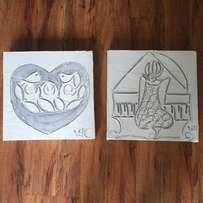Two Cute Pictures for Sale - R50 each or R80 for both