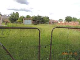 790 square meter stand for sale in Warden Free state.