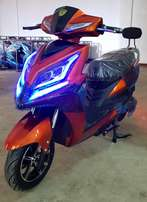 Electric motorcycle power by green
