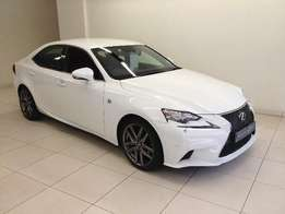 Hot White - IS350 F/ Sport Auto- Full Spec Red Interior