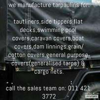 tarpaulins/seile & cargo nets for sale,all sizes & all gsm