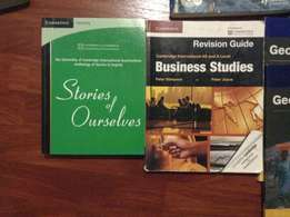 Grade11/12 Cambridge text books and revision guides