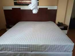 White striped bedsheets