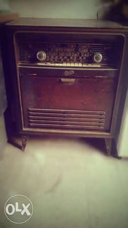 Antique collection radio disc player vintage