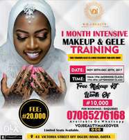 1month intensive Makeup and Gele Training
