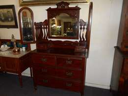 Bass and Satin wood Dressing Table