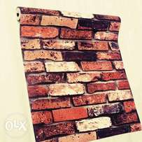 3D Bricks PVC Wallpaper