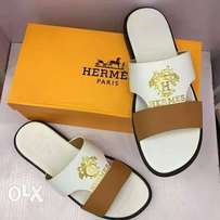 Brown and white Hermes palms