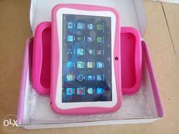 Slightly Used Kids Rockchip android 4.4 Tablet Pink Color with cover