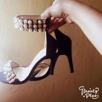 Shoe Republic Sandals with Pearl Details