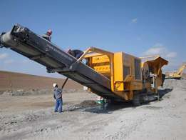 Used Parker JQ1575 Mobile Jaw Crusher