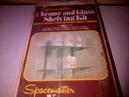 Spacemaster Chrome and Glass Shelving Kit