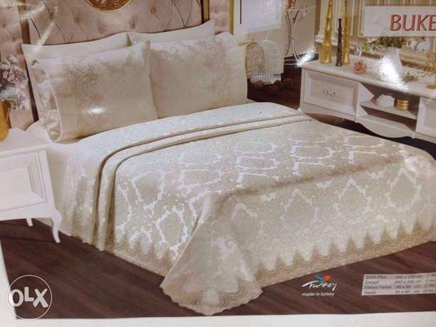 Perlam Turkish bed set 6 pcs two colors available