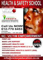 Victim Empowerment Support & Other Health Courses Registration is open