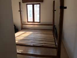 King Size (6x6) Bed with mattress and mosquito net