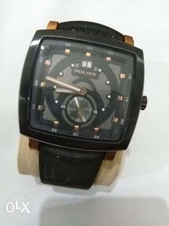 Police men's Black Square wristwatch