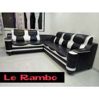 Black & White L Sofas/Sofa Sets With 18 Months Warranty 850,000/-
