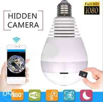 1080P Full Panoramic Bulb Hidden Camera Night Vision And Real LED Bulb