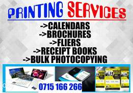 Printing Services (brochures,fliers,b/s cards)