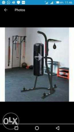 American Fitness dual punching bag wt stand Onitsha North - image 1