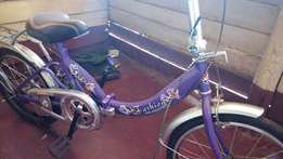 Foldable girls' bike