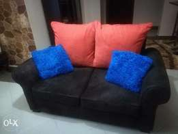L-shaped sofa, ottomman and 3 seater