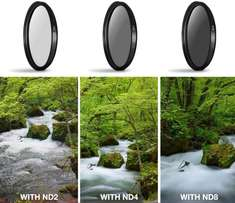 Neutral Density (ND) Camera Filter Set for Canon Nikon or Sony DSLR