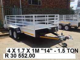 4m x 1.7 x 1m Doublewheel 1.5 ton Brand new. Papers incl