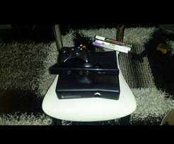 Xbox 360 slim with kinect and games included