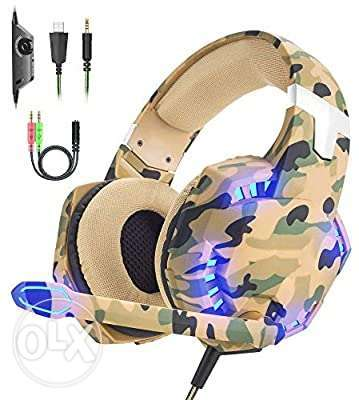 Gaming Headset For PS4 PC Headphones With Microphone LED Light