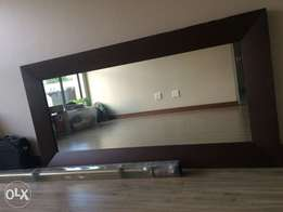Solid wooden frame mirror - sweet deal!!