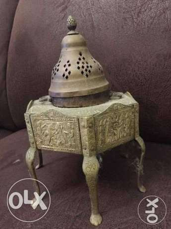 مبخرة تراثية نحاس قديم Old brass incense burner heritage أشرفية -  3