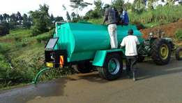 Water bowser, Water tank, tanker tractor
