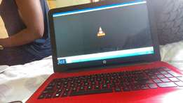 Hp laptop clean red on top